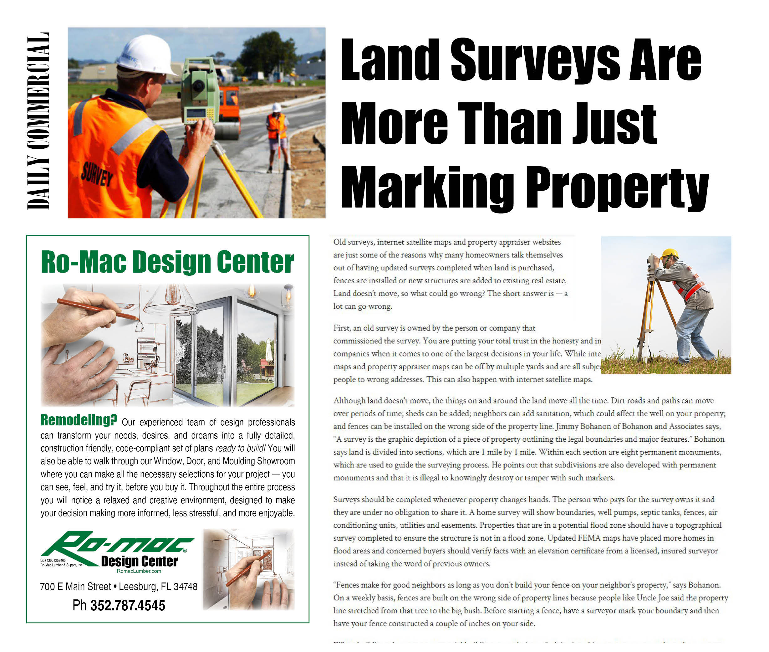 Romac Building Supply Around The House Land Surveying