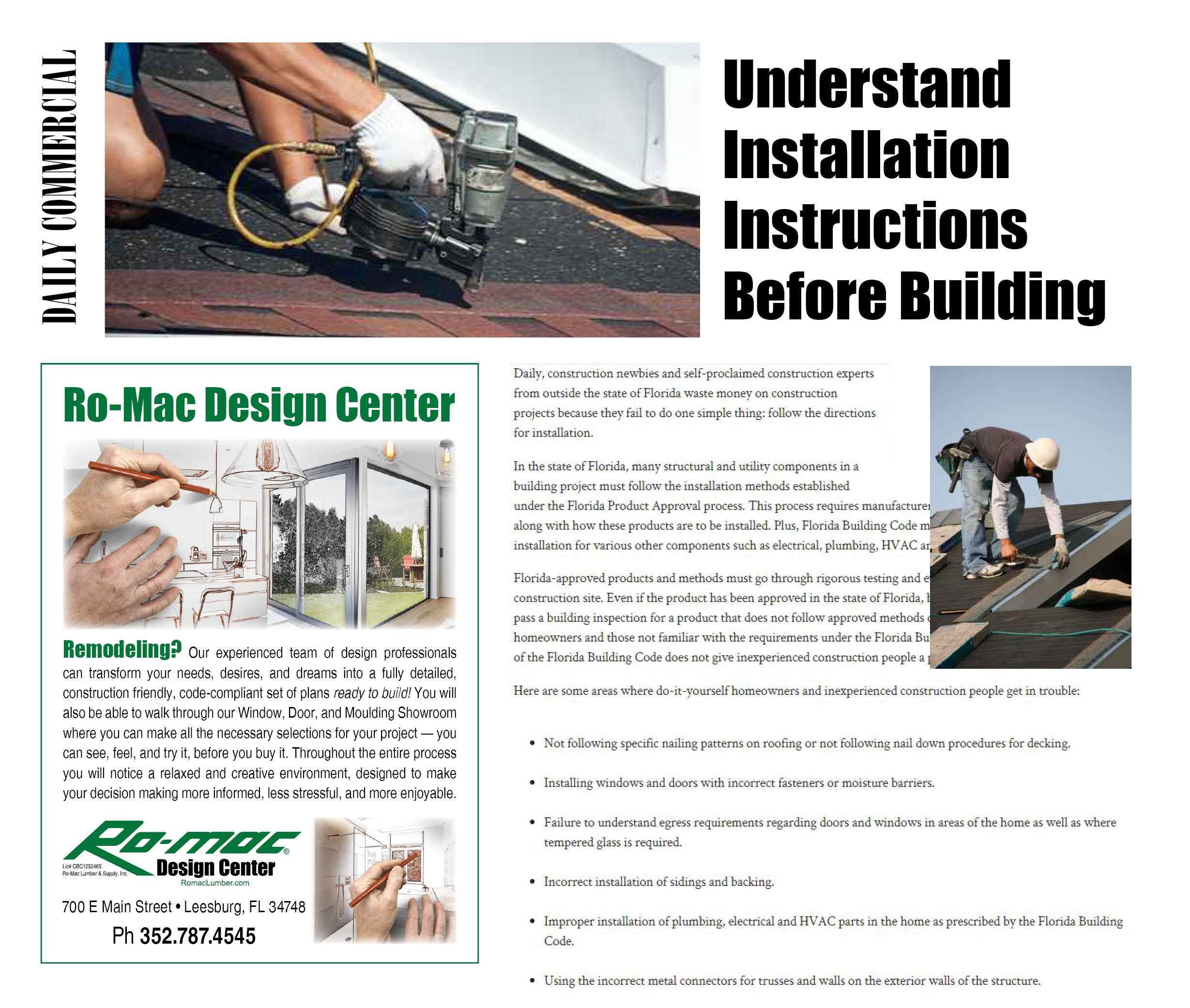 Romac Building Supply Around The House Proper Install