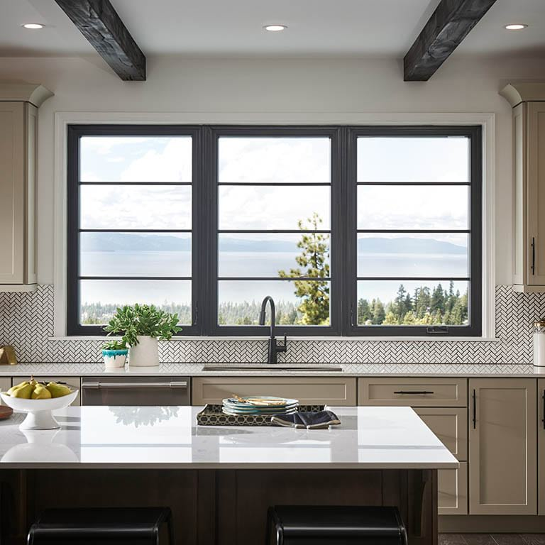 Andersen Windows 100 Series Windows in a Kitchen Setting