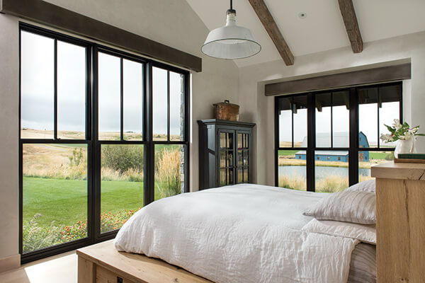 Kolbe Windows Ultra Series Windows in a bedroom setting