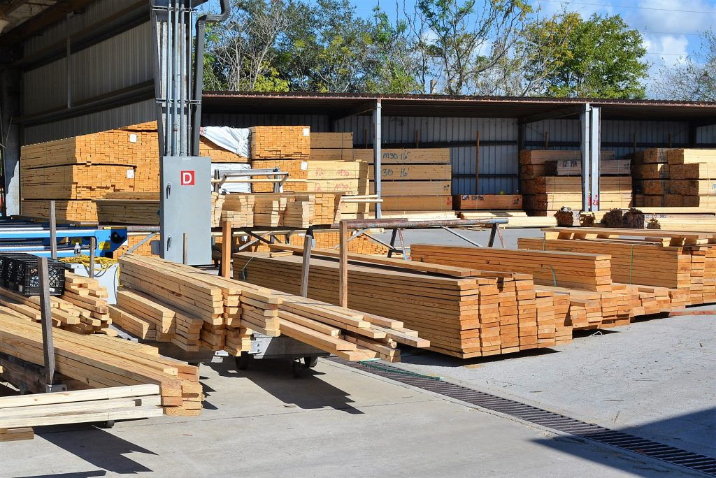 Romac Building Supply lumber yard