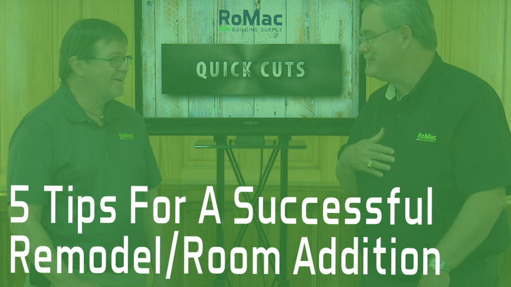 5 Tips for a Successful Remodel/Room Addition